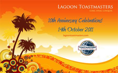 Lagoon Toastmasters' 10th Anniversary Celebrations